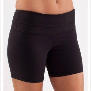 Lululemon Groove Reversible Shorts Black Sz 8